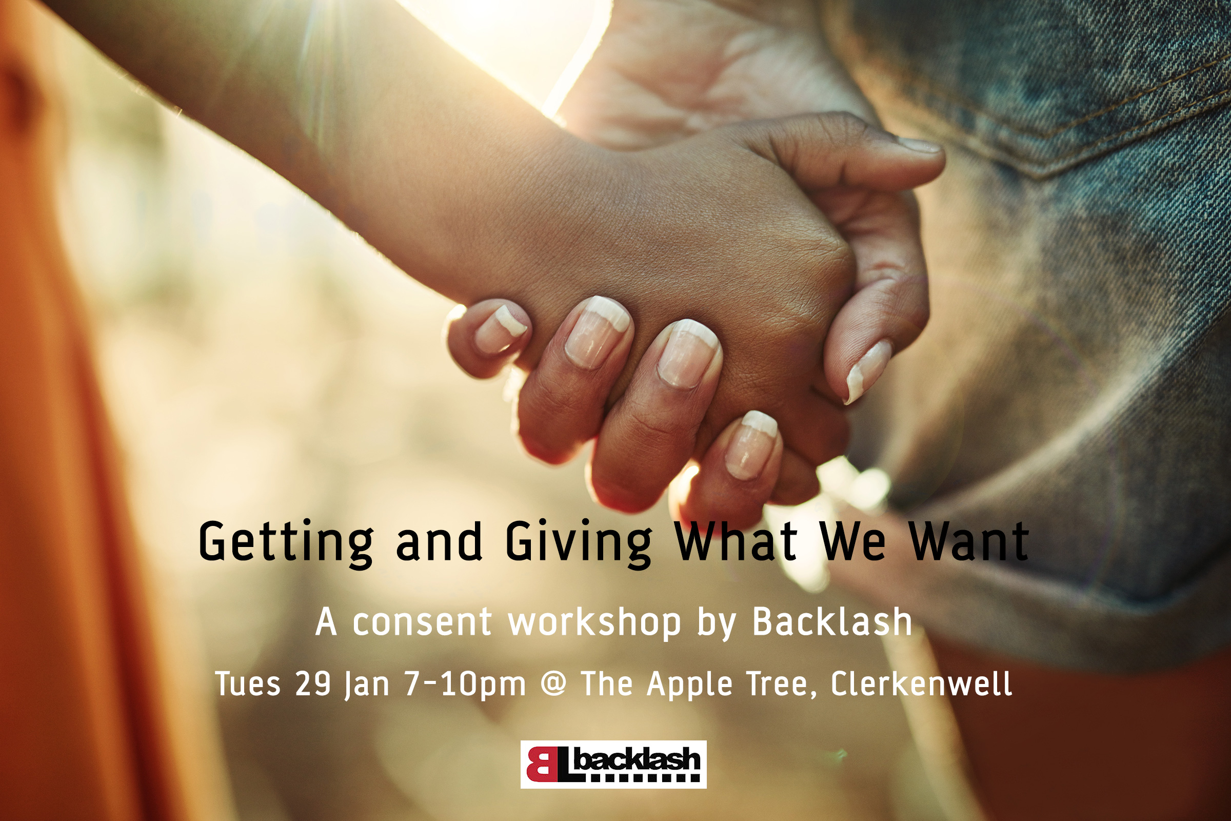 Getting and Giving What We Want, consent workshop at the Apple Tree in London, 7pm 29th Jan