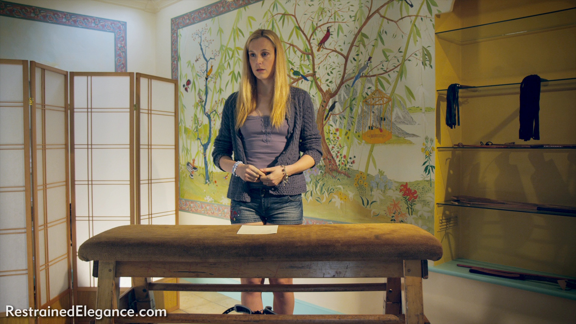 Ariel Anderssen receives hard judicial caning - Restrained Elegance