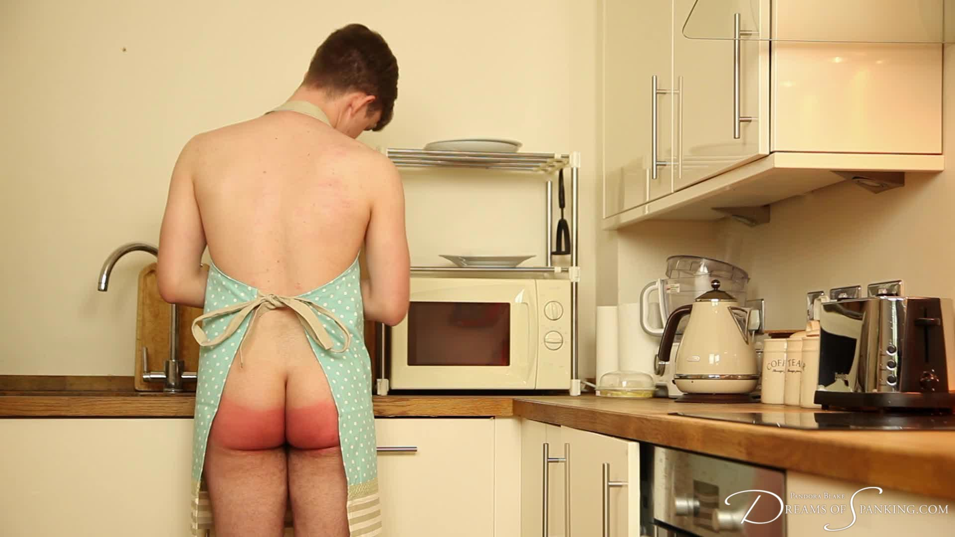 Tai Crimson paddled in the kitchen by Pandora Blake in 'Houseboy - the Film'