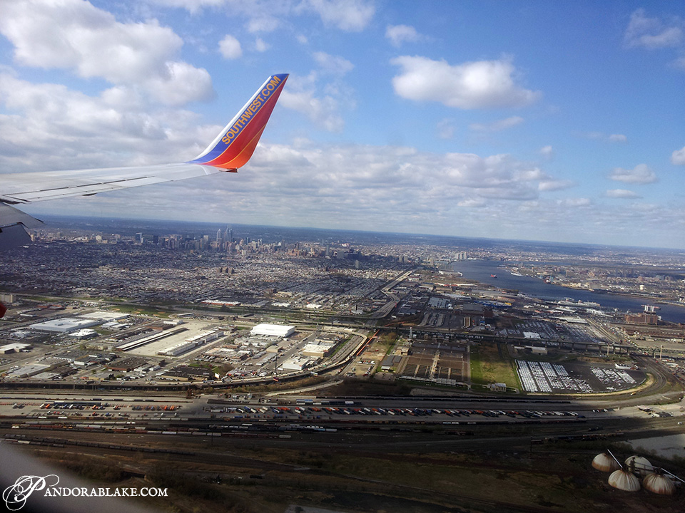 Flying into Philadelphia - Pandora Blake