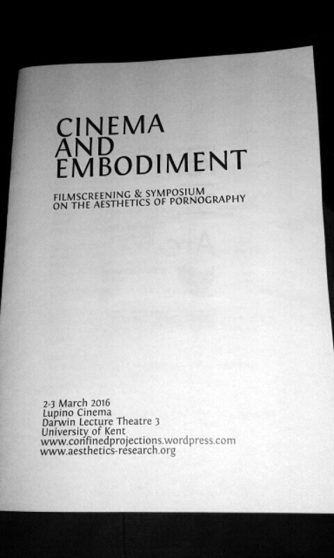 Cinema and Embodiment - film screening and symposium at the University of Kent