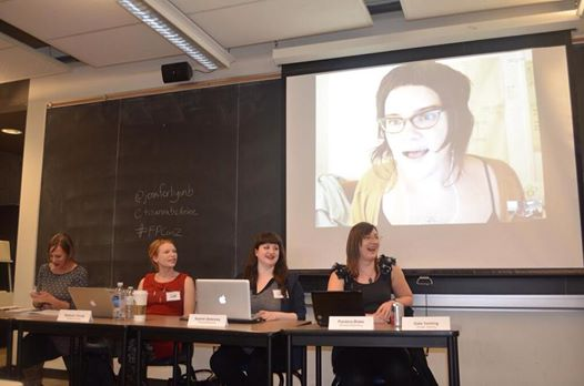 Panel on Consent and Authenticity at the Feminist Porn Conference 2014, featuring Gala Vanting, Madison Young, Sophie Delancey and Pandora Blake - photo by Zahra Stardust