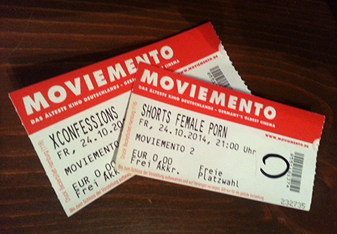 Tickets for the Moviemento cinema at the Porn Film Festival Berlin 2014