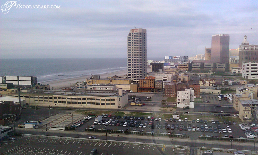View from hotel window in Resorts, Atlantic City - pandorablake.com